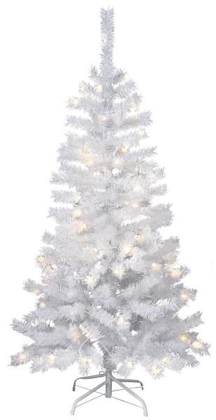 """LED-Weihnachtsbaum """"Kalix"""" - 80 warmweiße LEDs - H: 150cm, D: 70cm - Farbe: weiss - mit Metallfuss"""