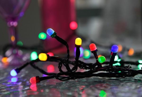 LED-Party-Lichterkette - Chaser Line Outdoor - Controller - 8,90m - 40x Bunt (Rot/Grün/Blau/Gelb)