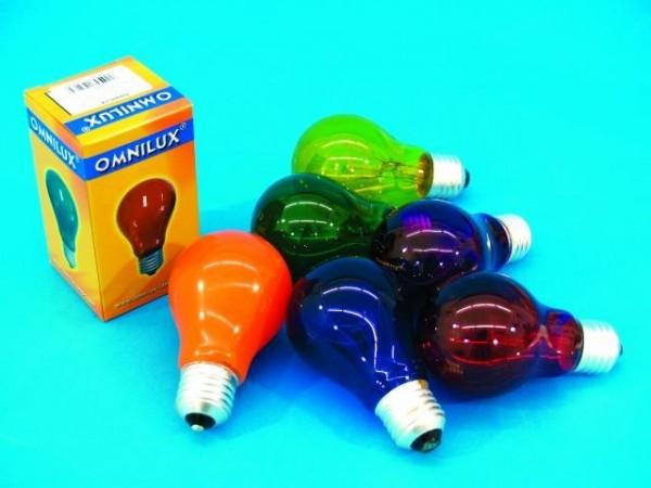 Glühlampe - Omnilux A19 - E27 - 40W - Orange