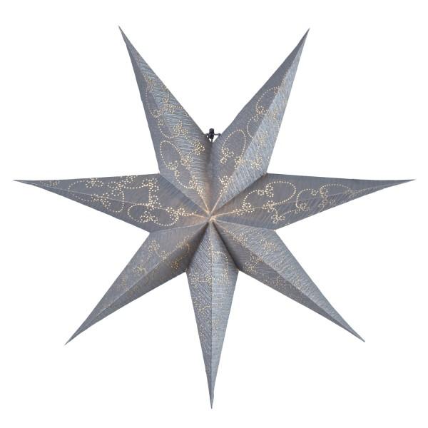Papierstern Decorus - hängend - 7-zackig - D: 63cm - silber