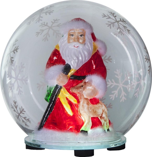 "LED-Deko-Kugel ""Bubble"" Weihnachtsmann - Farbwechsel - D: 12cm, H: 13,5cm - Batterie"