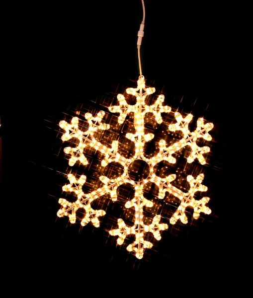 "LED-Ropelight-Silhouette ""Schneeflocke"" - koppelbar - 360 warmweiße LEDs - D: 75cm - outdoor"