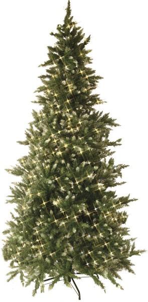 """LED-Weihnachtsbaum""""Vancouver"""" - 550 warmweiße LEDs - H:250cm - grün mit weissen Spitzen - Metallfuss"""