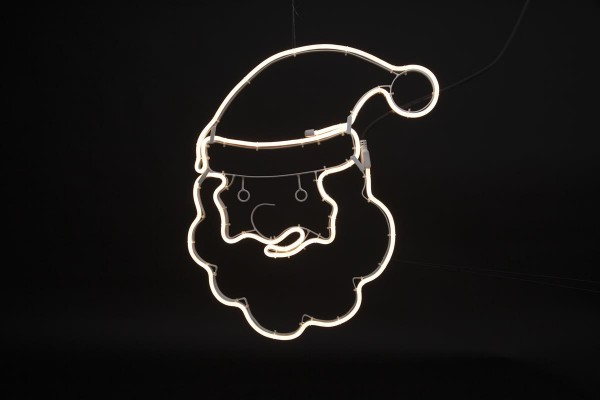 "LED-Silhouette ""Neoled"" Weihnachtsmann-Gesicht - 180 warmweiße LEDs - H: 53cm - outdoor"