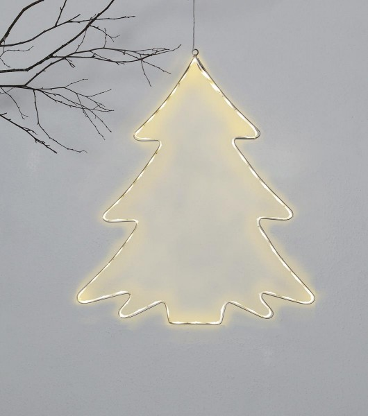 """LED-Silhouette """"Lumiwall"""" - Baum - 60 warmweiße LEDs - H: 50cm - outdoor"""