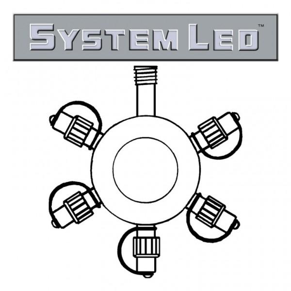 System LED Black | Verteiler | koppelbar | exkl. Trafo | 5-fach | Ring