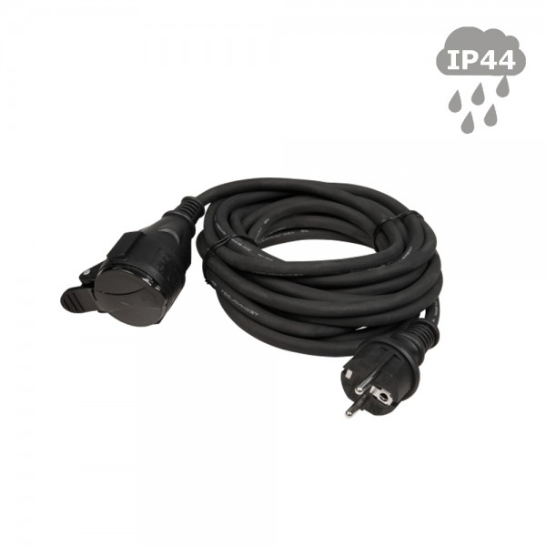 Stromkabel 5m / Verlängerungskabel | Schutzkontakt | Outdoor| 3x1,5mm² - mit Deckel