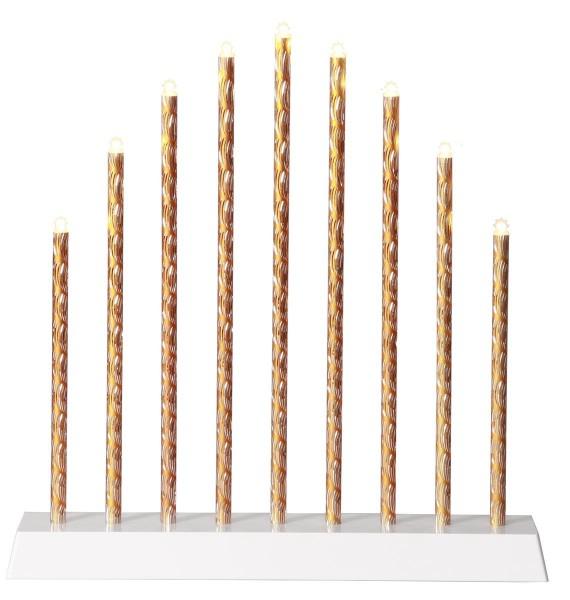 LED-Fensterleuchter - Trix Line Indoor - Batteriebetrieb →26 x ↑28cm - 9x Warmweiß - /GoldSilber
