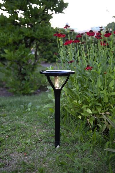 "LED-Solar-Spieß ""Mervia"" - warmweiße LED - H: 34cm - D: 16,5cm - Dämmerungssensor"