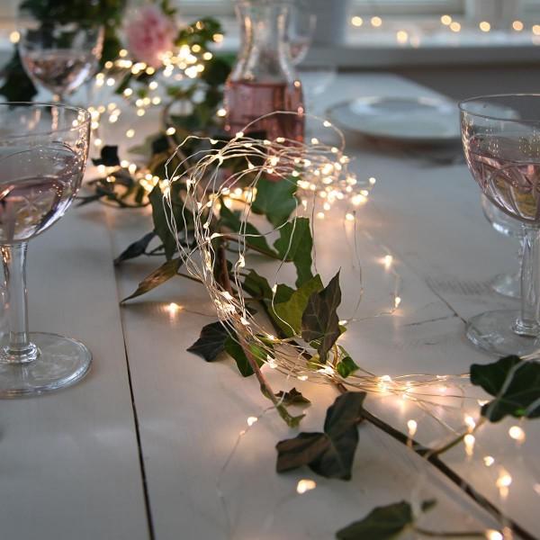 "LED-Lichterbouquet ""Dew Drops"" - 360 weiße 2700K LEDs auf 23 Drähten - 2,0m - inkl. Trafo"