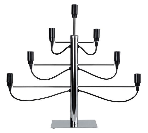 """LED-Fensterleuchter """"Milano"""" chrom - 7 x E14 Fassungen - ohne Leuchtmittel - 150cm Zuleitung"""