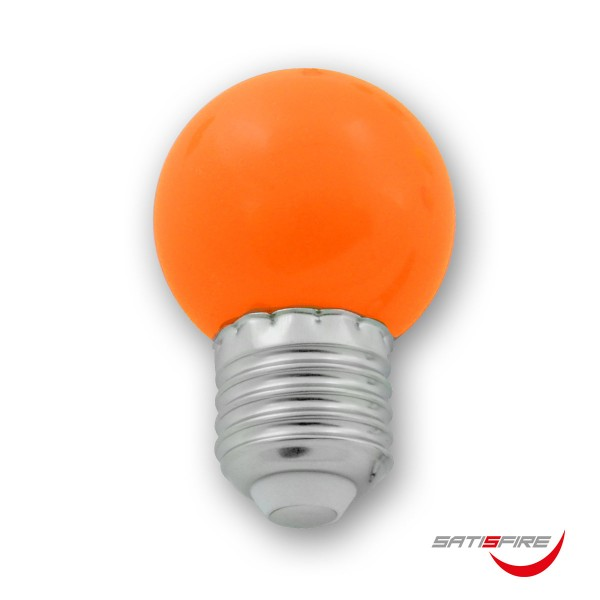 LED Leuchtmittel G45 - orange - E27 - 1W | SATISFIRE