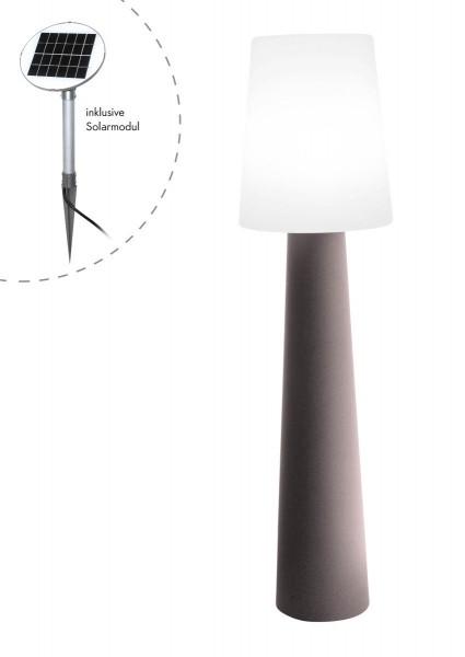 """Outdoor XL Stehlampe No. 1 """"Taupe"""" H:160cm - Solar LED warmweiß - Außenleuchte IP44"""