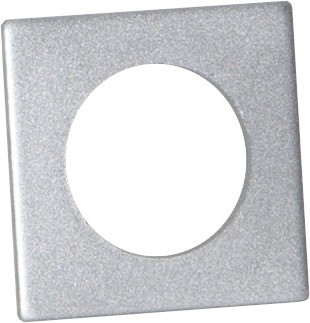 Kerzenring für Stabkerzen - silber - 7 Stück - 3,2x3,2cm - H: 0,2cm - Tropfschutz