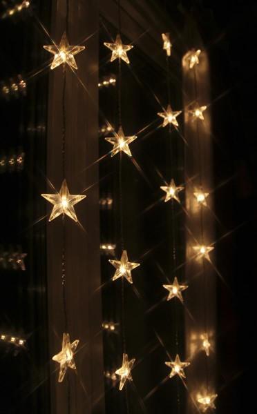 "LED-Lichtervorhang ""Star Curtain"" mit 30 Sternen - 30 warmweiße LED - 90x120cm - inkl. Trafo"