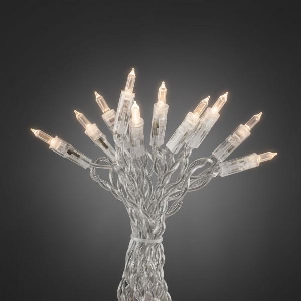 LED Minilichterkette - One String - 20x Warmweiß - 2,85m - Indoor - Transparentes Kabel - Schalter