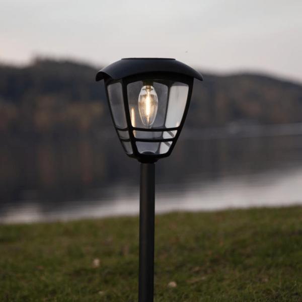 """LED Solar -Wegleuchte """"Felix"""" - warmweiße Filament LED - H: 45cm - D: 14cm - Dämmerungssensor"""