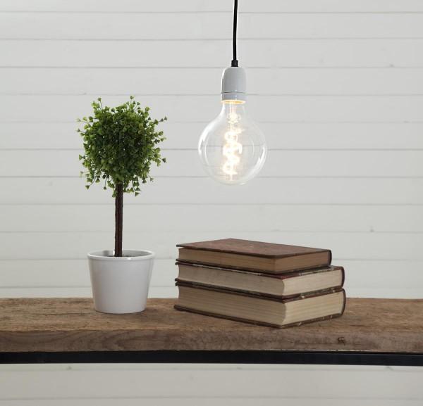 Ersatzkabel für Leuchtsterne und Hängeleuchten - L: 5 m - E27 Fassung - mit Schalter - schwarz