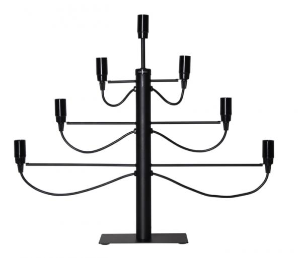 """Kerzenleuchter/Tischleuchte """"Milano"""" - 7-armig - E14 Fassung - H: 52,5cm, L: 60cm - schwarz"""