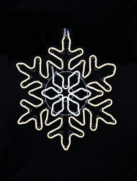 """LED Schneeflocke """"NeoLed""""- 480 warm + kaltweiße LEDs - 68 x 80 cm - outdoor - 8 Geschwindigkeiten"""