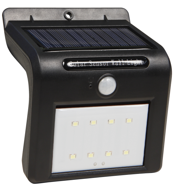 "Solar-Wandleuchte ""SHINE"" - 12,8x10,7x5,8cm - 250 Lumen - 6500K LED - Bewegungsmelder"