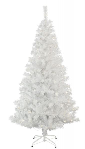"""LED-Weihnachtsbaum """"Kalix"""" - 150 warmweiße LEDs - H: 195cm, D: 105cm - Farbe: weiss - mit Metallfuss"""