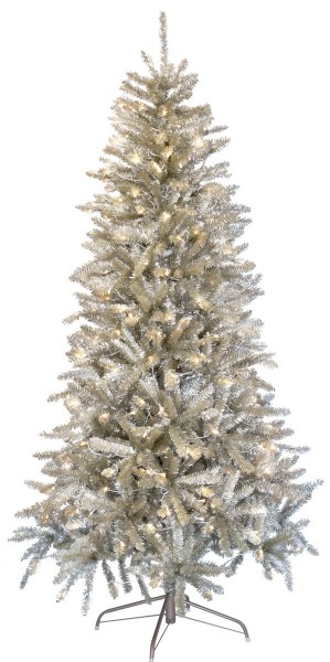 "LED-Weihnachtsbaum ""Champ""- 300 warmweiße LEDs - H: 195cm, D: 115cm - Farbe: champagner - Metallfuss"