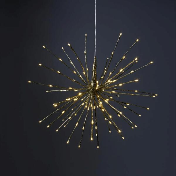 "3D-LED-Hängestern ""Firework"" - D: 60cm - golden mit 120 warmweißen LED - Programme - Outdoor"