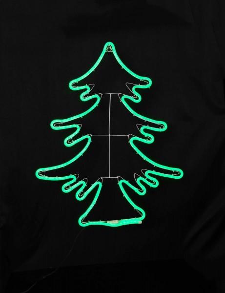 """LED Tannenbaum """"NeoLed"""" - 300 grüne LEDs - 68x82 cm - leuchtet 2 seitig - outdoor"""