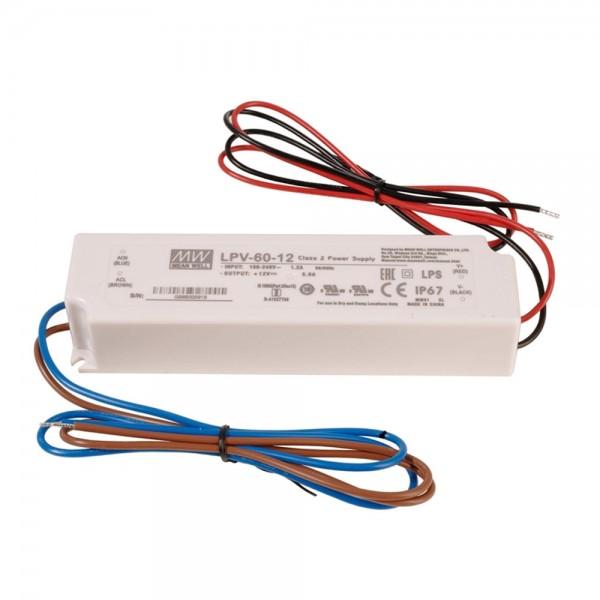 LED Netzteil / Treiber MEANWELL LPV-60-12 - CV - IP67 - 12V - 60W