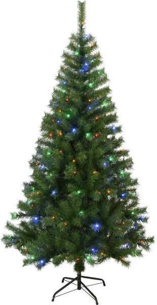 "LED-Weihnachtsbaum ""Kalix"" - 150 bunte LEDs - H: 195cm, D: 105cm - grün - mit Metallfuss - outdoor"