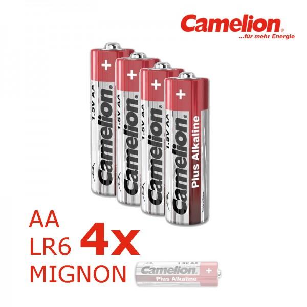 Batterie Mignon AA LR6 1,5V PLUS Alkaline - Leistung auf Dauer - 4 Stück - CAMELION