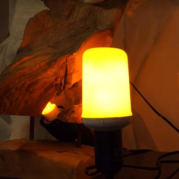 E-27 Flamelight - schöne Feuersimulation - G-Sensor - verschiedene Modi - Feuerlampe - Fackel