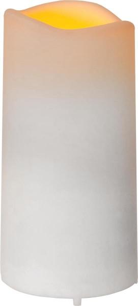 """LED Grabkerze """"Serene"""", flackernd, creme, H: 10cm D: 5cm - Timer + Sensor"""