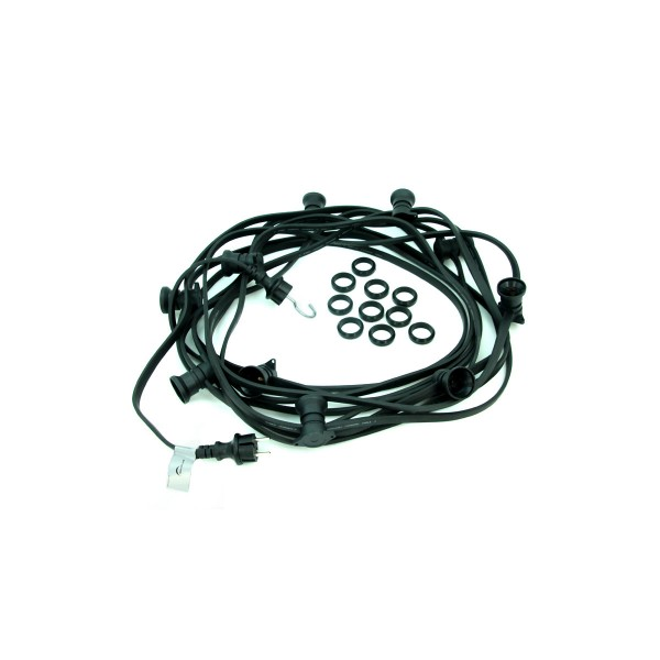 ILLU-Lichterkette 20m - 20xE27 - IP44 - ohne Leuchtmittel - SATISFIRE