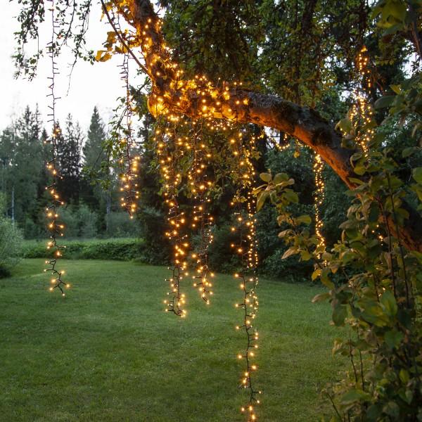 LED Lichterkette - Serie LED - outdoor - 800 ultra warmweiße LED - L: 16m - schwarzes Kabel