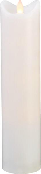 LED-Kerze   Kunststoff   Bianco-Design   flackernde LED   Timer   Weiß   →7cm   30cm