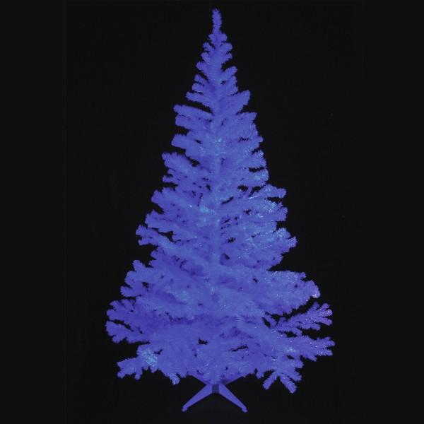 Tannenbaum UV glitzerweiß, 210cm - inkl. Ständer - unter Schwarzlicht leuchtend