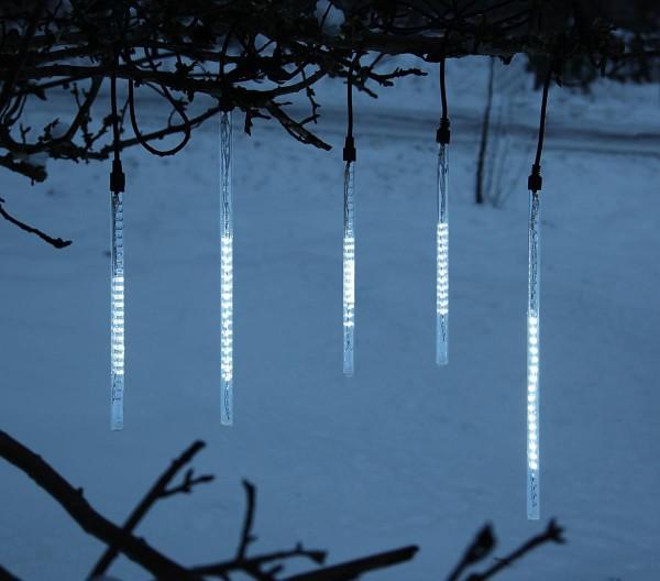 LED-Schneefall-Lichterkette - Snowmotion Line Outdoor - Grundset - 11,00m - 136x Kaltweiß
