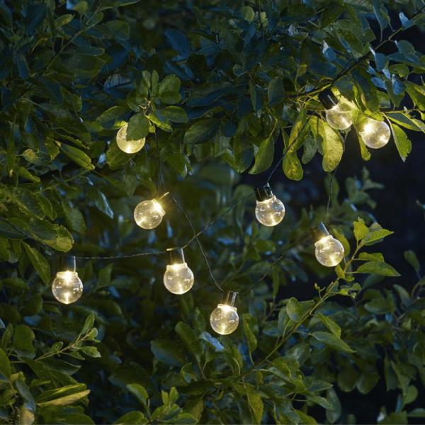 "LED Lichterkette ""Partaj"" - Solar - 10 warmweiße LED - L: 180cm - Lichtsensor - Outdoor - klar"