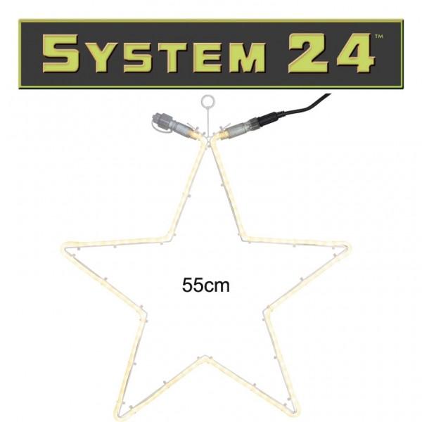 System 24 | Stern 55cm | 120 warmweiße LEDs | koppelbar | exkl. Trafo