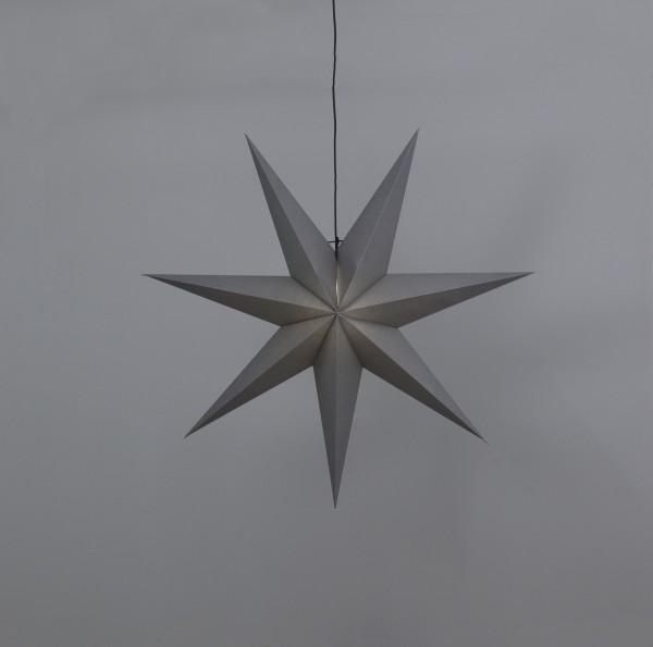 Papierstern Ozen - hängend - 7-zackig - D: 100cm - inkl. E14 Fassung u. Kabel - anthrazit