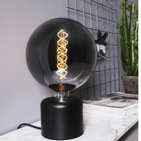 Lampenhalterung | GLANS | E27 | 180cm Kabel | Sockel | stehend | Granit-Schwarz