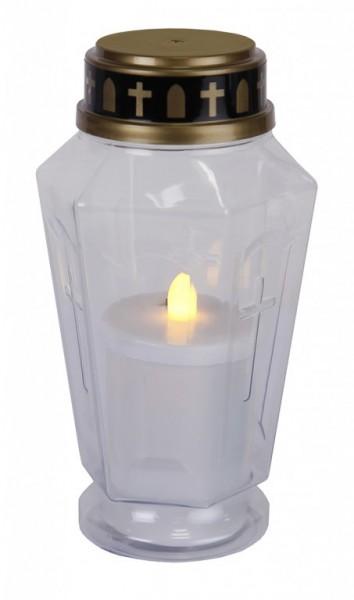 LED-Novenkerze | Memorial | flackernde LED | ↑15,5cm | 10er Set