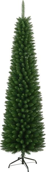 """Weihnachtsbaum """"Slim"""" - H: 210cm, D: 60cm - Farbe: grün - mit Metallfuss - outdoor"""