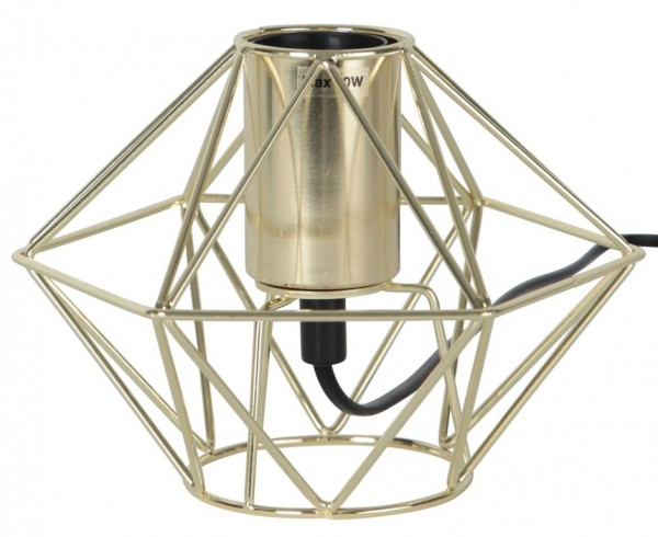Lampenhalterung | EDGE | E27 | 18cm x 13cm | groß | 180cm Kabel | Fassung Messing