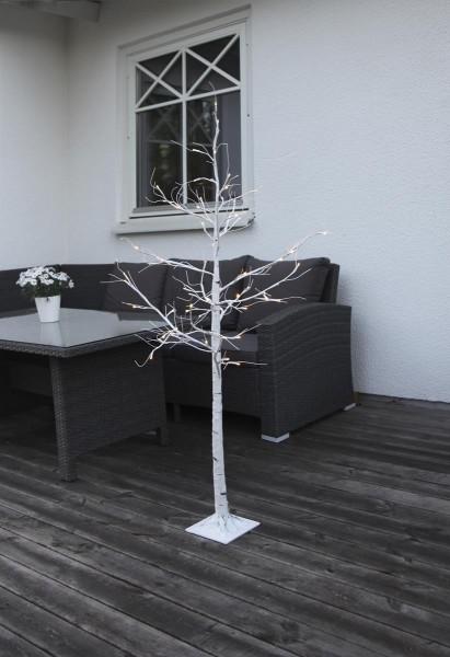 LED-Lichtbaum Tobby - 60 warmweiße LEDs - H: 150cm - Farbe: weiss - mit Standfuß - outdoor