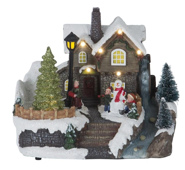 """LED-Weihnachtszene """"Brighton"""" - 8 warmweiße LEDs -  bunt - ↑16,5cm"""