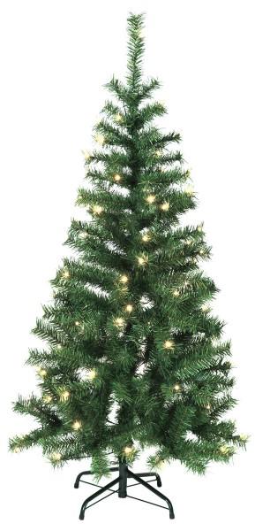 """LED-Weihnachtsbaum """"Kalix"""" - 80 warmweiße LEDs - H: 150cm, D: 70cm - Farbe: grün - mit Metallfuss"""