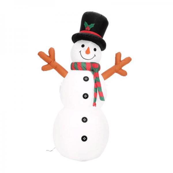 Schneeman - aufblasbare Figur 180cm - für Innen und Außen - mit Gebläse und LED Licht